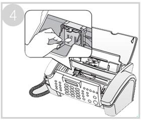 잉크 장착되는 접촉면을 면봉으로 닦아주는 화면입니다