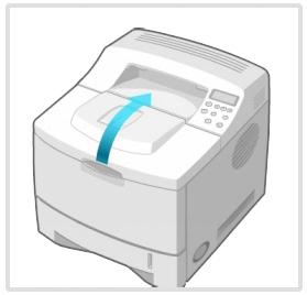 프린터의 윗 덮개를 연다