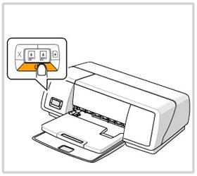 프린터의 전원 표시등이 켜져 있는지 확인