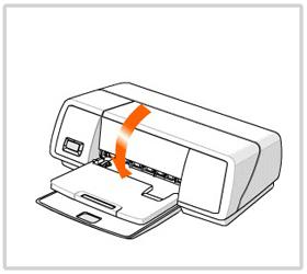 프린터 덮개를 닫는다