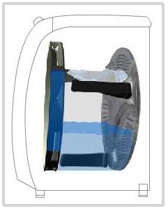 세탁물의 상태를 확인후 한쪽으로 치우치지 않도록 한다.