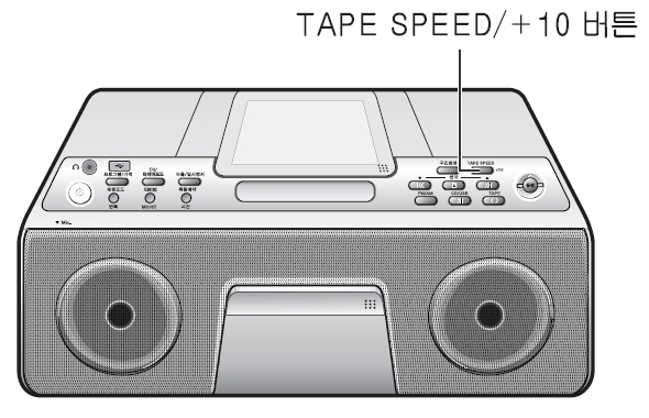 tape speed/+10 버튼