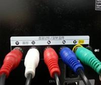 TV 모니터에 컴포넌트 케이블을 연결합니다.