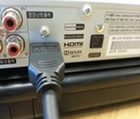 셋톱박스/컨버터에 HDMI 케이블을 연결합니다.