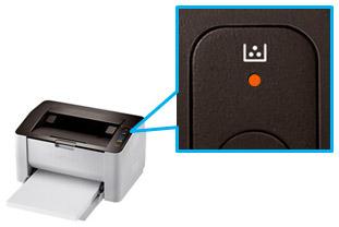 프린터 상단 불들어오는 곳에 토너 표시등 위치 화면