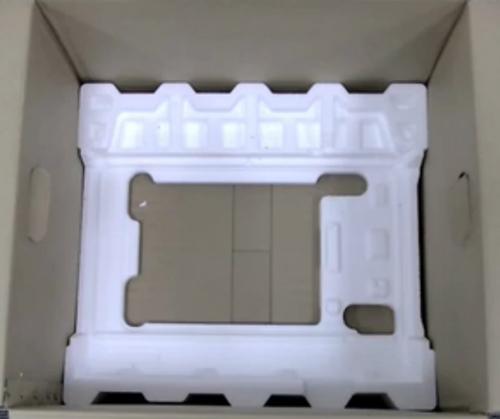전자레인지 제품박스 내부를 다시 확인하는 예시 화면