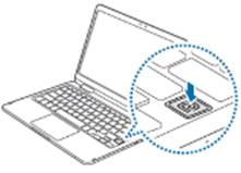 기존 모델로 지문 인식 위치가 키보드 버튼 오른쪽 아래쪽에 보이는 예시 화면