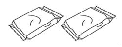 검정 잉크와 컬러 잉크 카트리지 포장된 상태 이미지