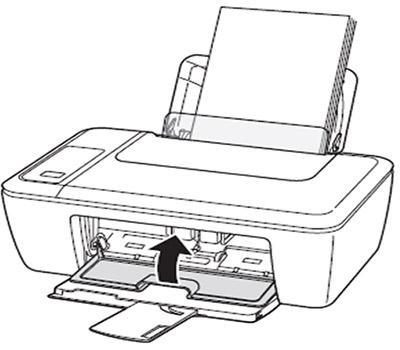 잉크 카트리지의 덮개를 닫는 화면