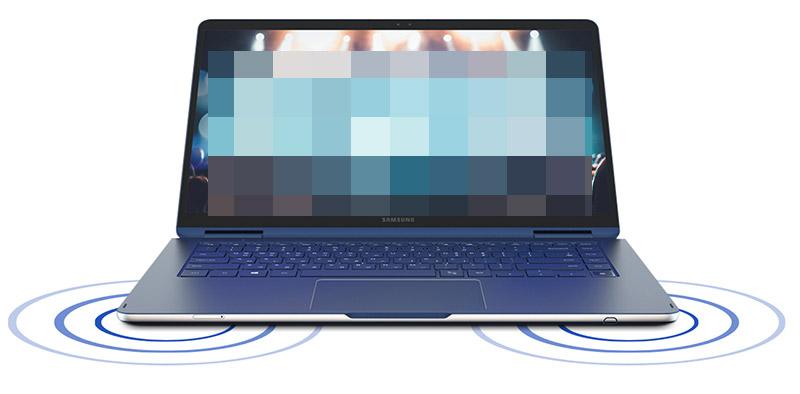 삼성 노트북 Pen S 제품에 사운드가 고음질로 감상할 수 있다는 예시 이미지