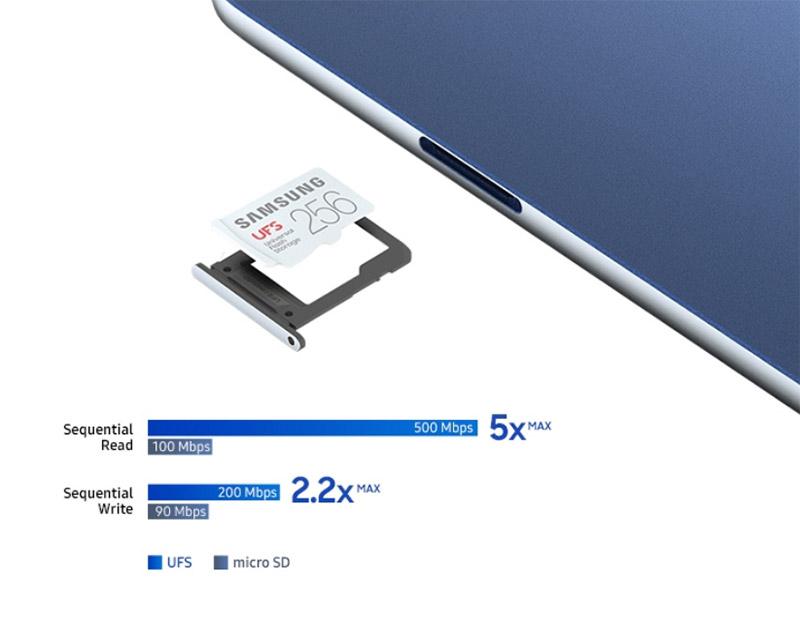 삼성 노트북 Pen S 제품에 UFS 카드 장착 가능한 이미지
