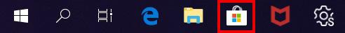 윈도우 바탕화면 하단에 시작버튼 오른쪽에 스토어 아이콘 선택 화면