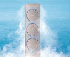 메탈 쿨링 패널을 통해 냉기를 확산 시키는 이미지