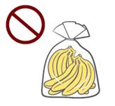 비닐봉투에 담긴 바나나