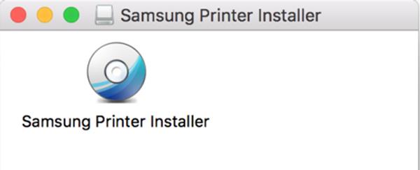 Samsung Printer Installer 파일을 더블 클릭하는 화면