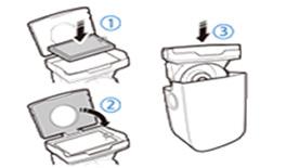 5. 먼지통 및 필터를 물세척한 후 통풍이 잘되는 그늘에서 완전히 말려주세요. 다시 조립할 때는 엠보싱 부분이 먼지통을 향하게 조립하세요.