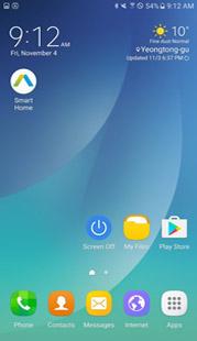 삼성 스마트 홈 설치를 클릭하는 이미지