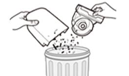 3. 먼지통 및 사이클론 유닛의 먼지를 털어주세요.