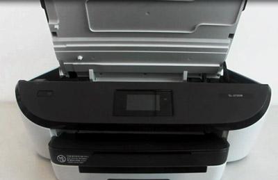 제품 상단의 잉크 카트리지 덮개를 여는 화면