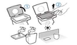 4. 먼지통 덮개와 사이클론 유닛을 분리한 후 필터에 있는 고리를 잡고 꺼내주세요.