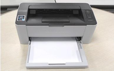 용지함 가이드 장착완료 후 인쇄시작하는 화면