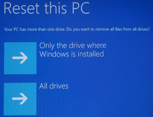 only the drive where windows is installed와 all drives 선택 화면