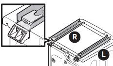 GUIDE STACKING의 돌기를 BRACKET STACKING의 홈에 끼워 조립하는 이미지
