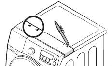 설치 가이드에 표시된 위치를 펜 등을 이용해 표시하는 이미지