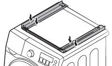 세탁기 상판에 표시한 마크에 맞춰 GUIDE STACKING을 부착하는 이미지
