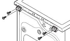 세탁기 상판의 캡에 고정된 나사를 분리하는 이미지