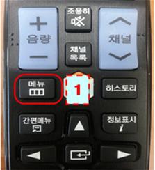 메뉴 버튼을 누르는 이미지