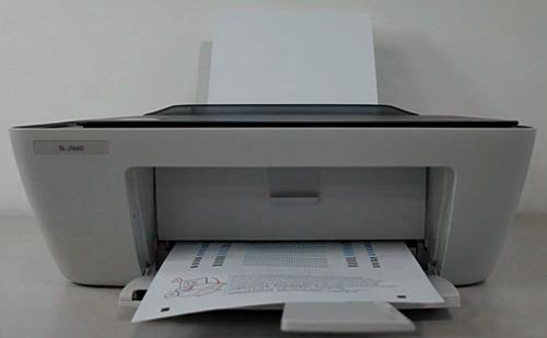 스캐너 정렬 페이지 인쇄 완료된 화면